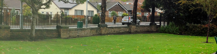 New railings in Romiley Park